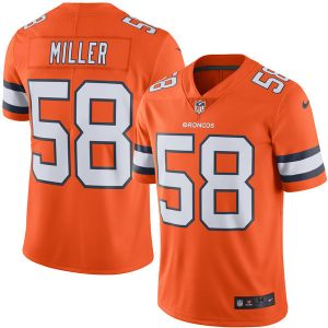 2016 Men Denver Broncos 58 Miller Nike Orange Color Rush Limited Jersey