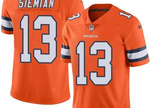 2016 Nike Denver Broncos 13 Trevor Siemian Orange Men NFL Limited Rush Jersey