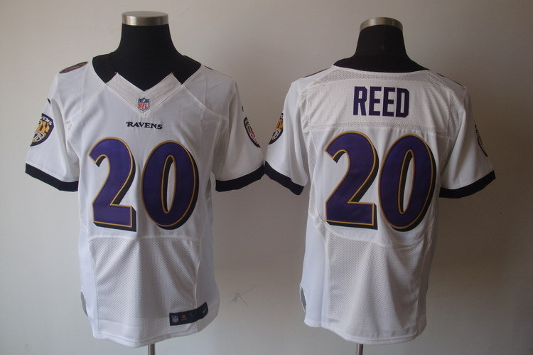 Baltimore Ravens 20 Reed White Nike Elite Jerseys