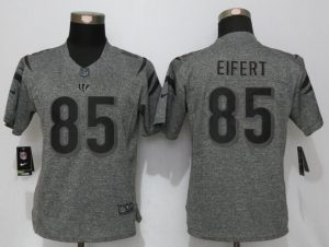 Womens Cincinnati Bengals 85 Eifert Gray Stitched Gridiron Gray New Nike Limited Jersey