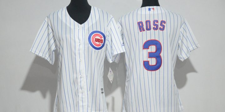 Womens 2017 MLB Chicago Cubs 3 Ross White Jerseys