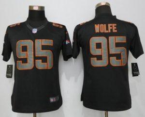 Womens Denver Broncos 95 Wolfe Impact Limited New Nike Black Jerseys