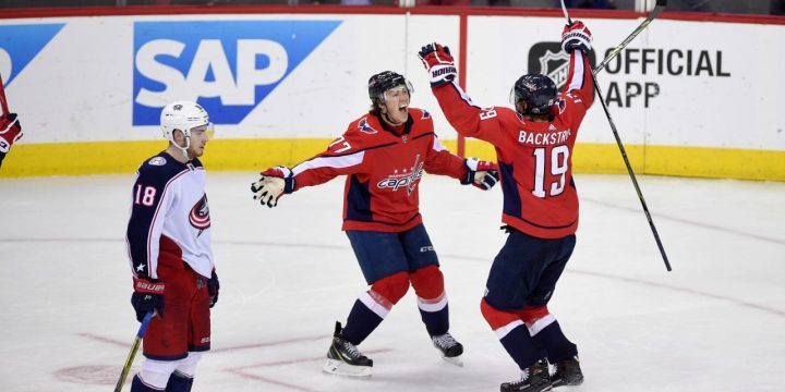 Backstrom scores in OT, Caps take 3-2 series lead on Jackets