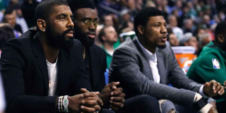 Kyrie Irving: 'In a great place,' enjoying C's playoff run from sideline