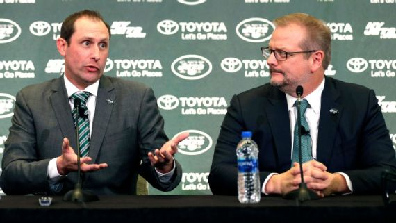 Jets' new power couple of Gase and Maccagnan aims to reverse tiresome trend