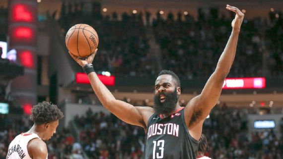 Harden drops 58 to guide Rockets past Heat
