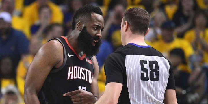 The officiating in the Rockets vs. Warriors series threatens to define the rivalry