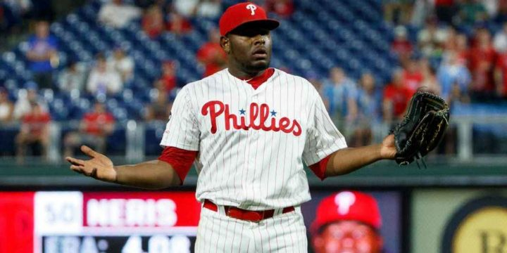 Phils' Neris banned 3 games for hitting Freese