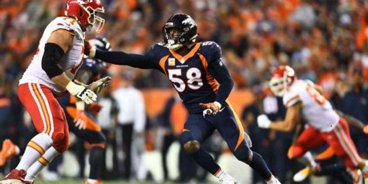 How do you stop pass-rushers like Von Miller? Blockers gather, swap secrets