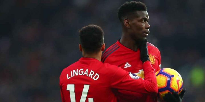 Man Utd's Pogba, Lingard filmed in apparent row