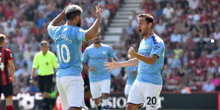 Aguero's brace leads Man City past Bournemouth
