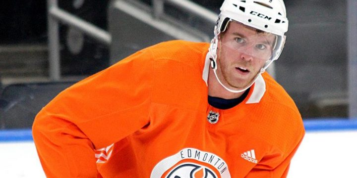McDavid skates with Oilers, 'working towards' playing in season opener