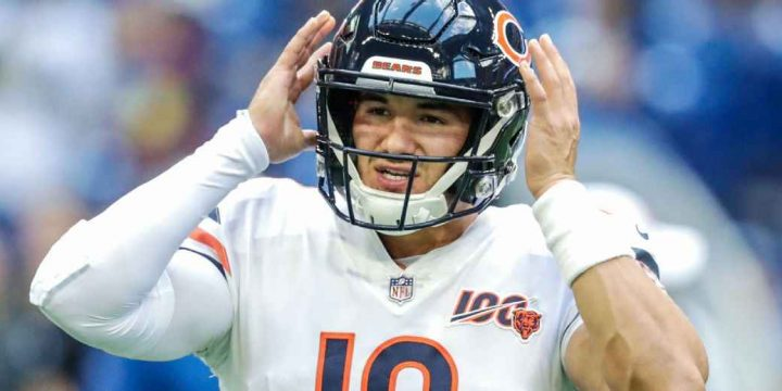 Bears QB Mitchell Trubisky practices, listed as questionable vs. Saints