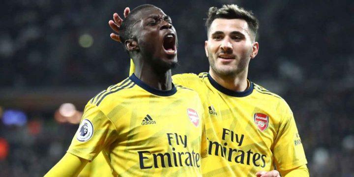 Africans Abroad: Nicolas Pepe, Pierre-Emerick Aubameyang inspire Arsenal comeback, Kelechi Iheanacho strikes again