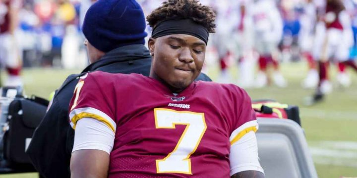 Redskins QB Dwayne Haskins out vs. Cowboys with ankle injury
