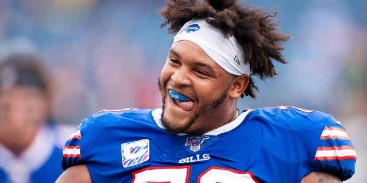 Bills O-lineman Dion Dawkins is Buffalo's big, fun adopted son