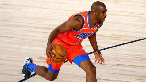Oklahoma City Thunder's Chris Paul leads march to voting site