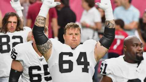 Las Vegas Raiders guard Richie Incognito out for season after foot surgery